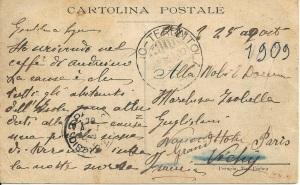 Cartolina Postale 1909